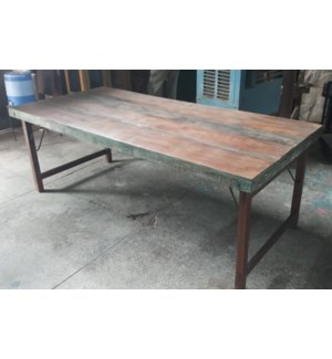 Recyled Wood Folding Table 71x35x30 in