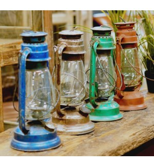 Old Glass and Metal Lanterns