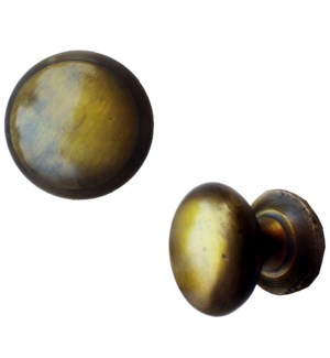 Round Smooth Brass Coated Knob