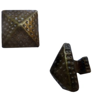 Pyramid Brass Coated Knob OS
