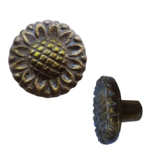 Sunflower Brass Coated Knob LC