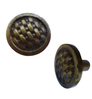 Weave Brass Coated Knob LC