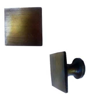 Square Brass Knob Antique LC