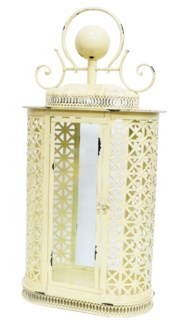 Aladin Cream Lantern L Metal, Glass 13.4x7.5x26.8inch.