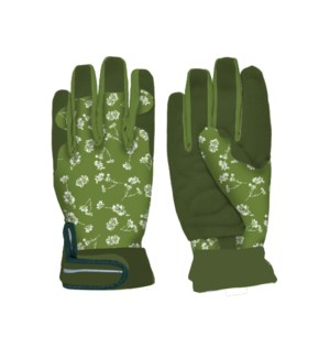 Ladies gardening gloves patterned M