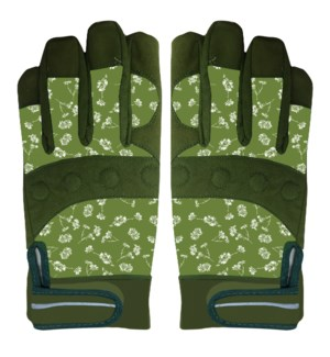 Gloves grip & protect patterned M