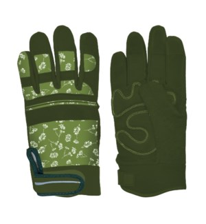 Garden gloves warm lined patterned M