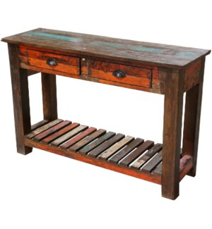 Recycled Wood 2 Dwr Console Table
