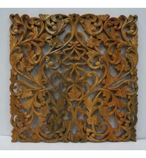 Wood Carved Jali Panel Square OS