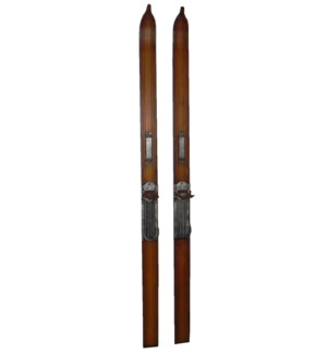 Replica Wooden Skis Pair 3.2x2x37inch