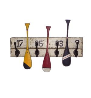 Wooden Paddles Hook Rack LC