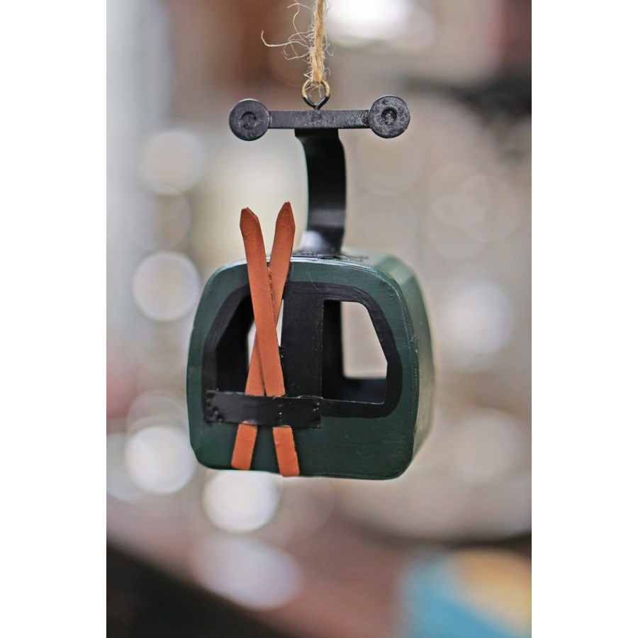 Gondola Cart Ornament Green