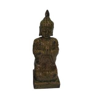"""kneeling ceramic buddha, disc"""