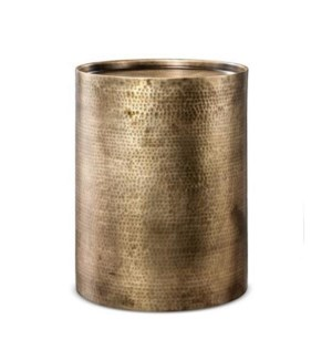 """SIGURD DRUM STOOM, BRASS ANTQ ALUMINIUM"""