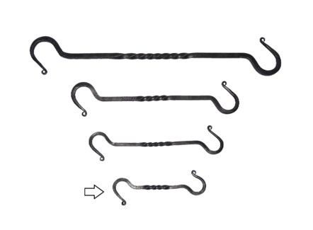 Twist S Hook Small Hand Forged 7.9x2.4x0.3