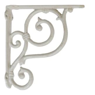 shelf bracket, medium, white. 7.5x7.5x1.49
