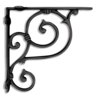 shelf bracket, medium, black 7.5x7.5x1.49