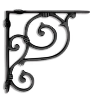 shelf bracket, medium, black 7.5x7.5x1.49