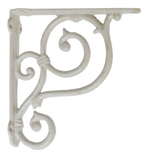 shelf bracket, medium, white. 7.5x7.5x1.49
