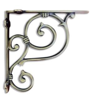 """Shelf bracket, medium, Antique Brass"""