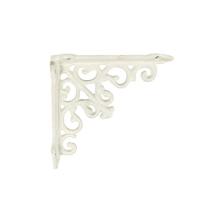 victorian shelf bracket, small, white, 4.92x4.92x1.18