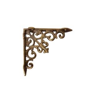 """Victorian shelf bracket, small, Antique Gold"""