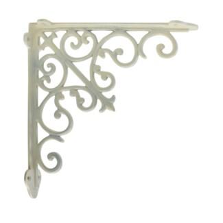 victorian shelf bracket, medium, white, 10.5x1.9x10.5