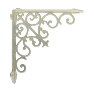 victorian shelf bracket, medium, white, 10.5x1.9x10.5