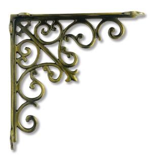 """""""Victorian shelf bracket, medium, Antique Gold"""""""