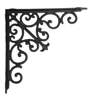 victorian shelf bracket, large, 15x2x15invch