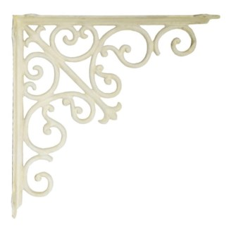 victorian shelf bracket, large, white,15.3x15.3x1.96i