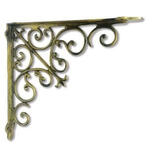 """Victorian shelf bracket, large, Antique Gold"""