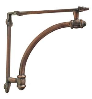 Halfround bracket, Copper, 9.6x1.7x 9.6 Inch