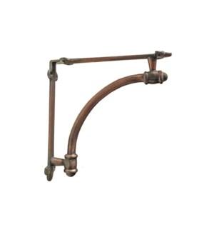 """Half-round bracket Medium, Antique Copper"""