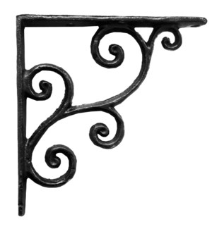 rustic shelf bracket, small,  5.5x0.7x5.5