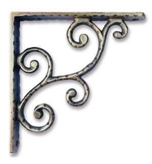 """Rustic shelf bracket, small, Antique Brass"""