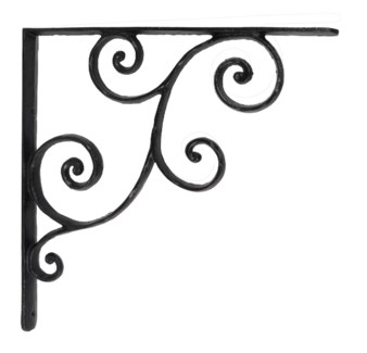 rustic shelf bracket, large 14.5x1x14.5