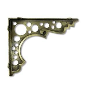 """Circle bracket, medium,  Antique Brass"""