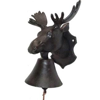 doorbell, moose head(8.5 x 5 x 9 H)