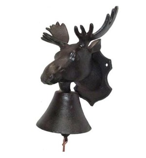 doorbell, moose head  (8.5  x 5  x 9  H)