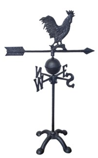 Weather Vane-Rooster, Black, 17x11x28.25 inches *Last Chance!*