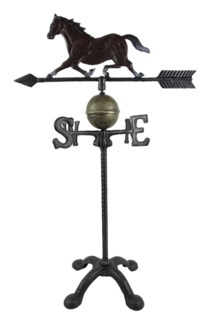 Weather Vane-Horse, Black, 17x11x28.25 inches  *Last Chance!*