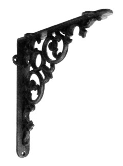 Scroll Shelf bracket Med Black 8x1.6x8inch
