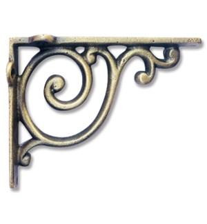 """Scroll Bracket small, Antique Brass"""