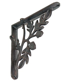 Branch n Twig Bracket Large. Cast iron. 9.05x9.05x2.16inch.
