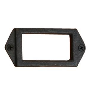 Cast Iron Card Holder 3.5x1.6x0.2inch