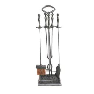 cast iron fireplace tool set w. stand 9x31x 9inch
