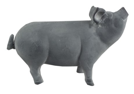 Cast Iron Pig Medium, Grey, 9.2x3.7x5.9