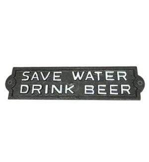 ~save water drink beer~ plaque