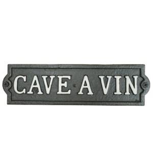 ~cave a vin~ plaque